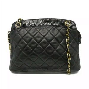 Auth Chanel Quilted CC Chain Shoulder Bag